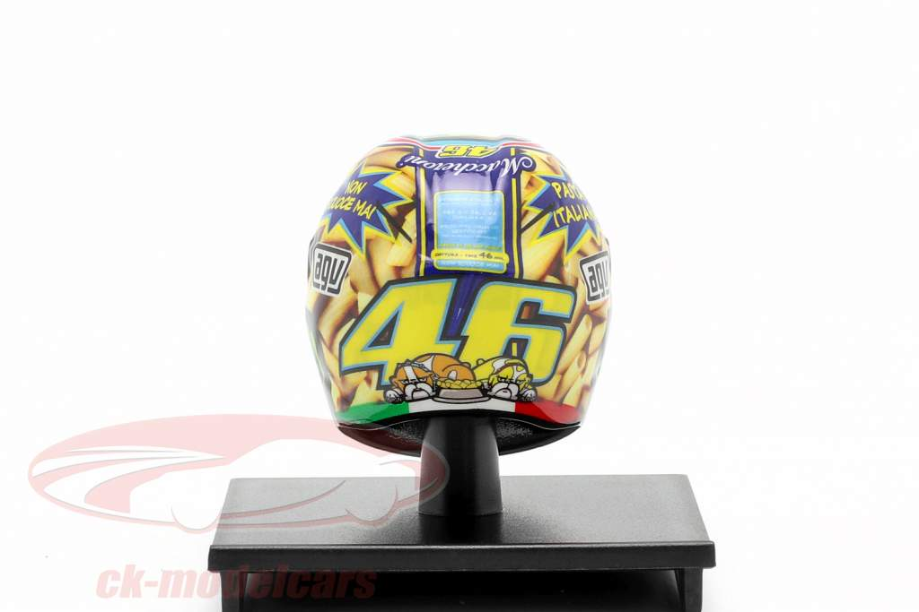 Casque Valentino Rossi MotoGP Mugello 2014 AGV 1:10 Minichamps