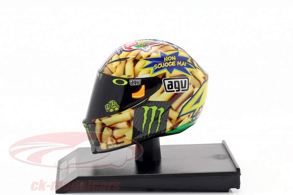 Valentino Rossi MotoGP Mugello 2014 AGV casco 1:10 Minichamps