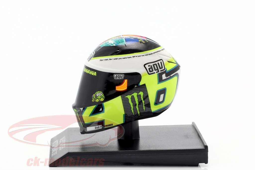 Valentino Rossi MotoGP Misano 2013 AGV hjelm 1:10 Minichamps