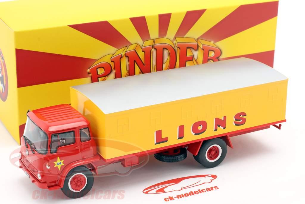 Bedford Pinder cirkus #44 Vilde katte transportør gul / rød 1:43 Direkt Collections