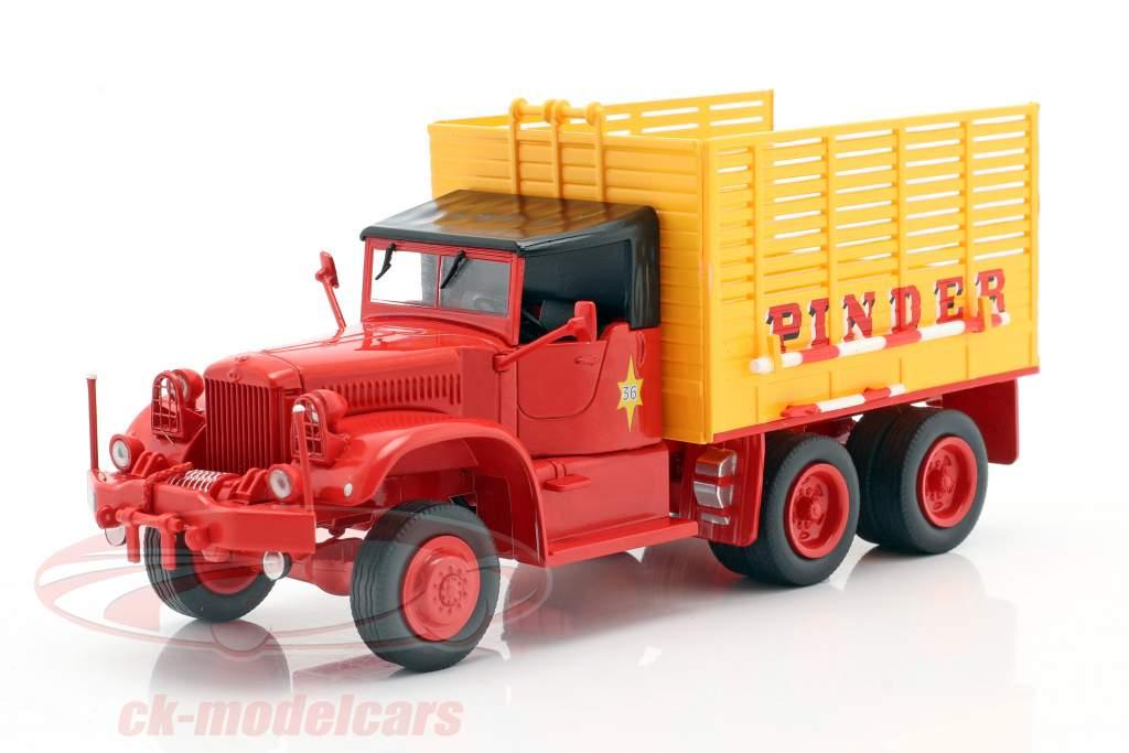 Diamond T968A Pinder circo #36 paglia camion giallo / rosso 1:43 Direkt Collections
