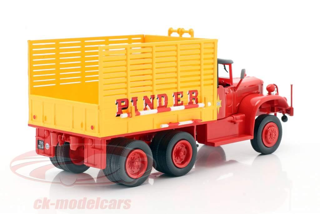 Diamond T968A Pinder Circus #36 Palha Caminhão amarelo / vermelho 1:43 Direkt Collections