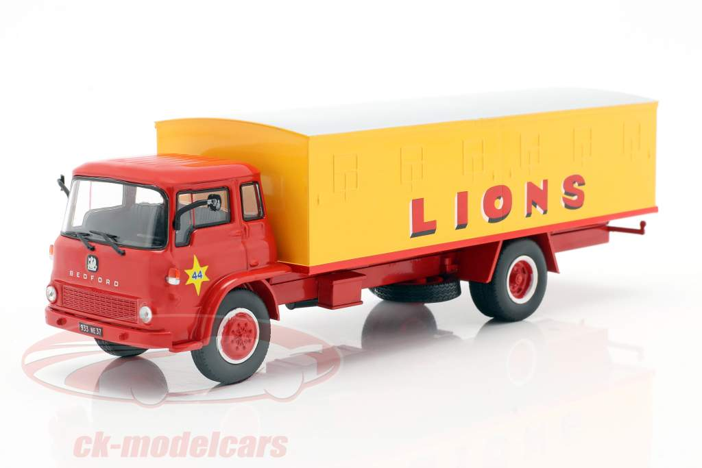 Bedford Pinder Zirkus #44 Raubkatzen-Transporter gelb / rot 1:43 Direkt Collections
