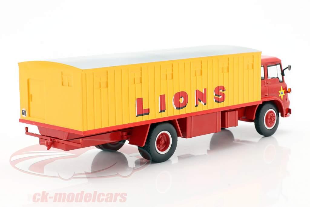 Bedford Pinder Cirque #44 Chats sauvages Transporteur jaune / rouge 1:43 Direkt Collections