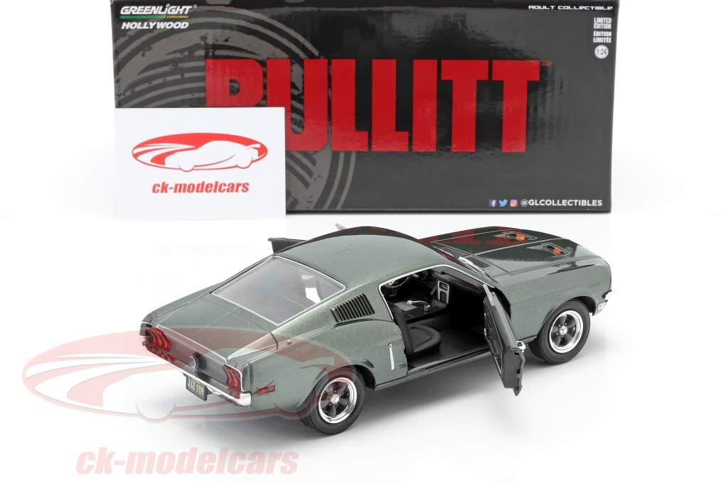 Ford Mustang GT Byggeår 1968 film Bullitt (1968) grøn metallisk 1:24 Greenlight