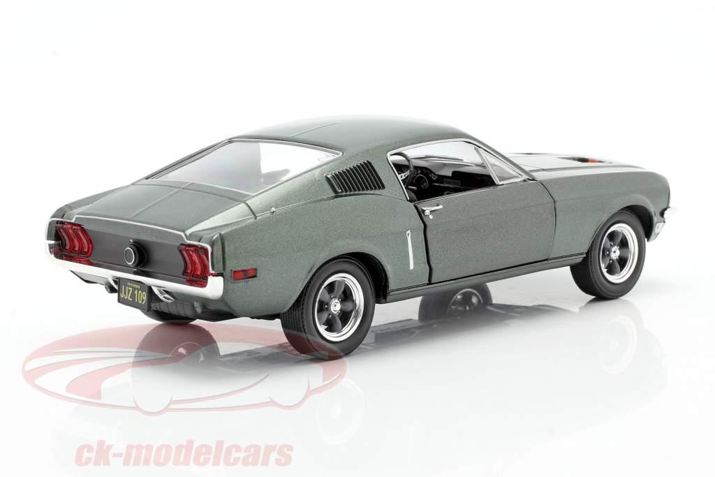 Ford Mustang GT Anno di costruzione 1968 film Bullitt (1968) verde metallico 1:24 Greenlight