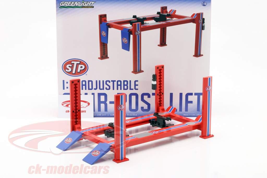 regolabile Quattro pilastri rampa idraulica STP rosso / blu / bianco 1:18 Greenlight