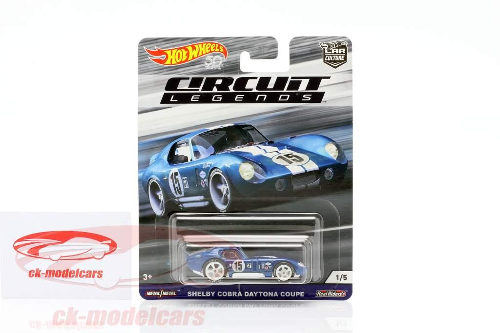 Shelby Cobra Daytona Coupe #15 azul / blanco 1:64 HotWheels