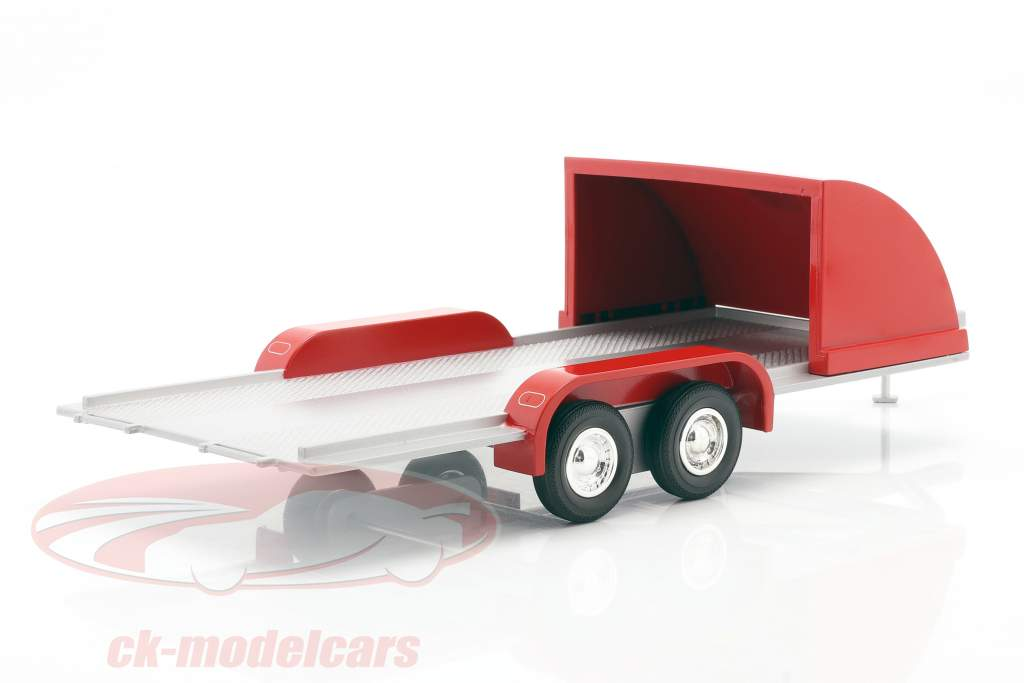Auto-Anhänger rot / silbergrau 1:18 Autoworld