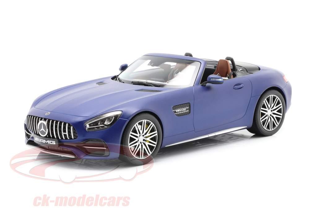 Mercedes-Benz AMG GT C Roadster bleu brillant 1:18 Norev