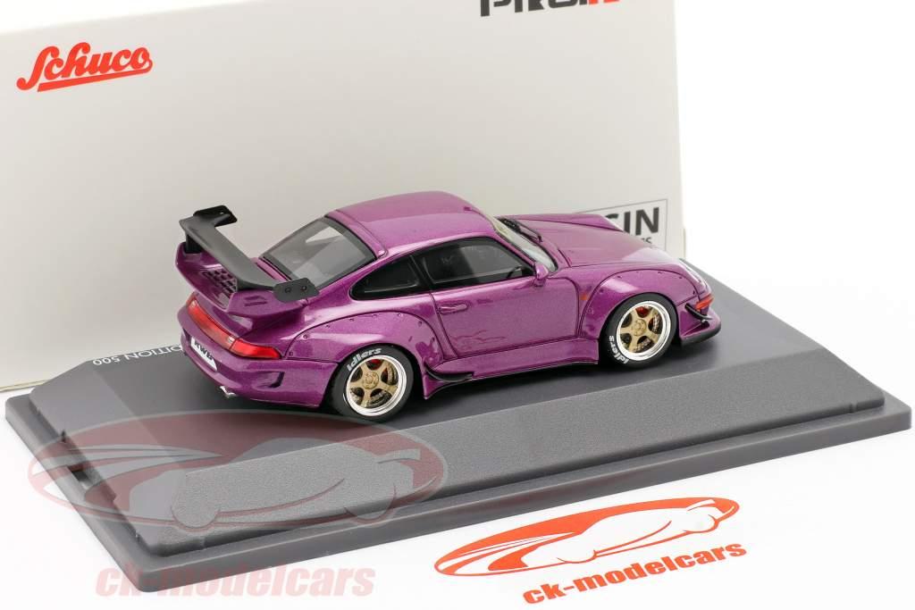 Porsche 911 (993) RWB Rauh-Welt pourpre métallique 1:43 Schuco