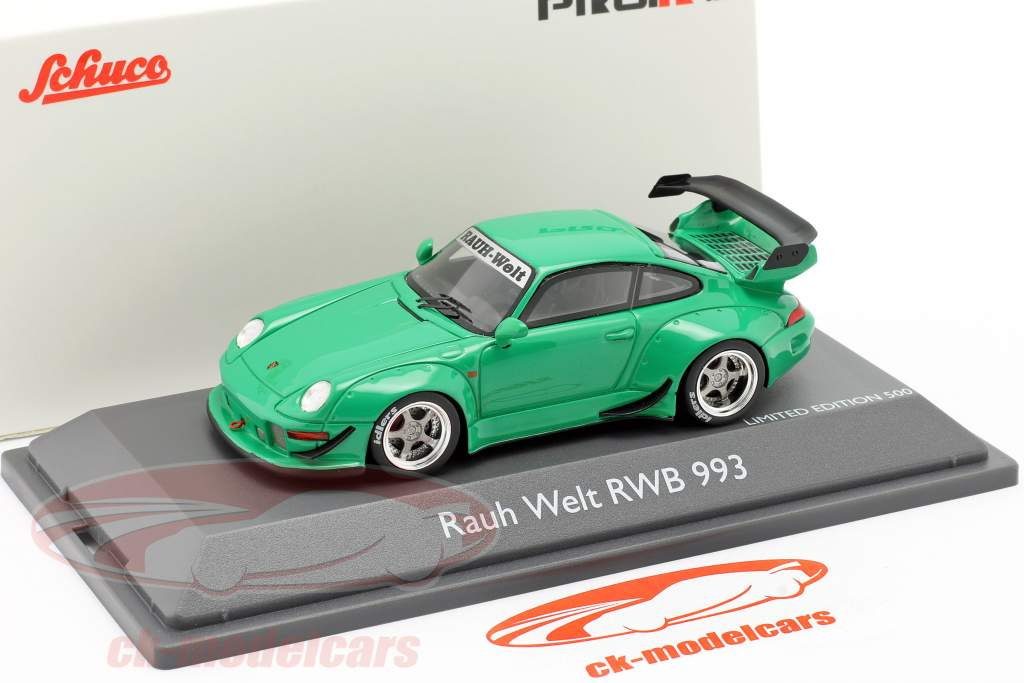 Porsche 911 (993) RWB Rauh-Welt vert 1:43 Schuco