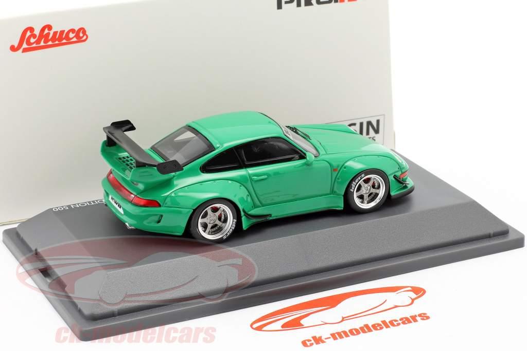 Porsche 911 (993) RWB Rauh-Welt green 1:43 Schuco