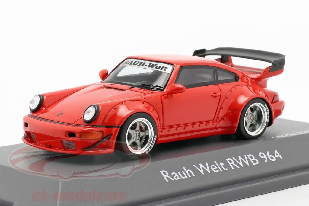 Porsche 911 (964) RWB Rauh-Welt vermelho 1:43 Schuco