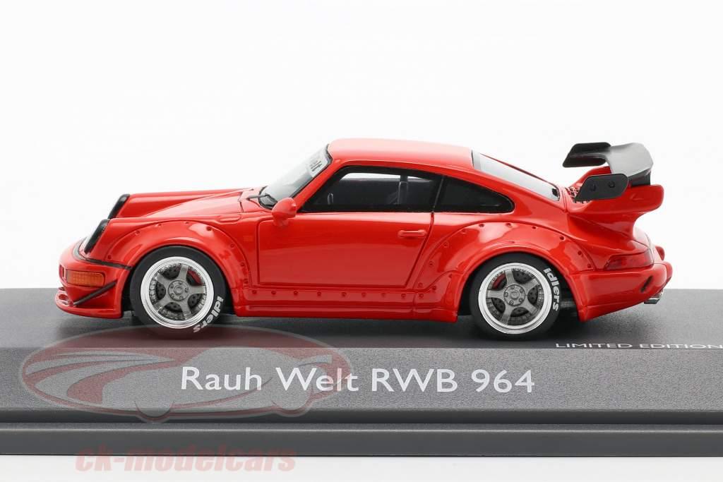Porsche 911 (964) RWB Rauh-Welt rood 1:43 Schuco