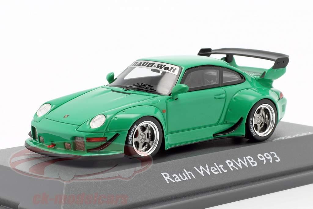 Porsche 911 (993) RWB Rauh-Welt verde 1:43 Schuco