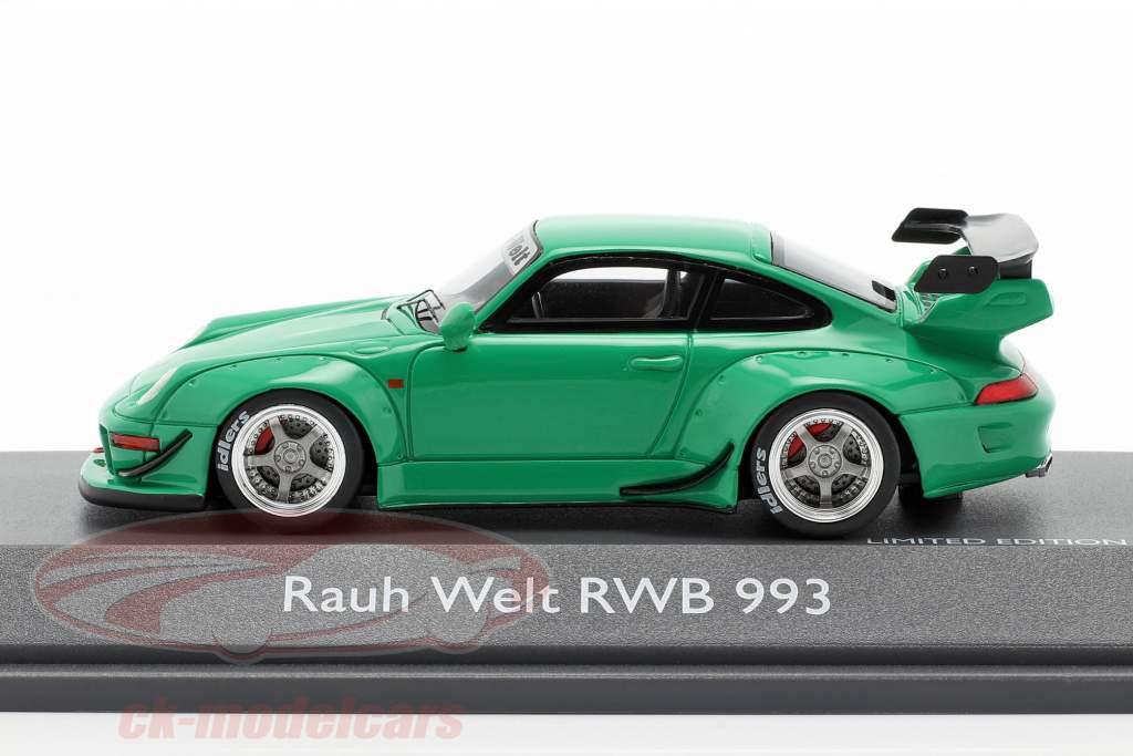 Porsche 911 (993) RWB Rauh-Welt groen 1:43 Schuco