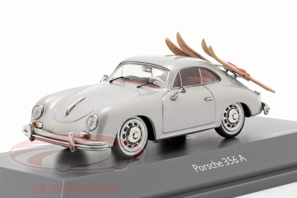 Porsche 356A Esquí acuático gris plateado metálico 1:43 Schuco