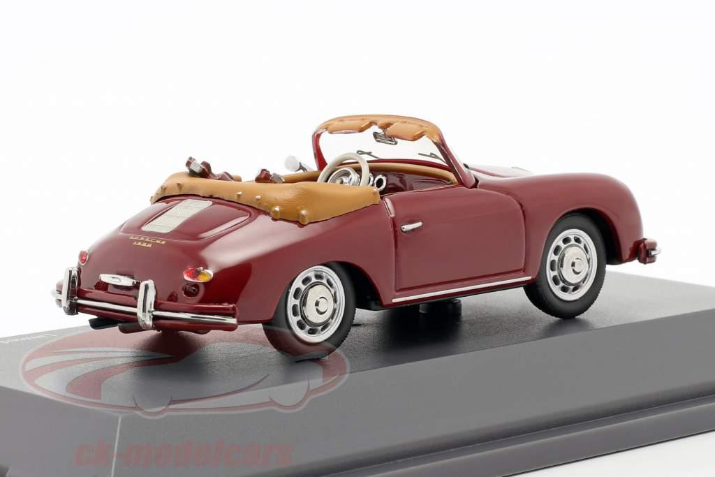 Porsche 356A Cabriolet Le golf sombre rouge 1:43 Schuco