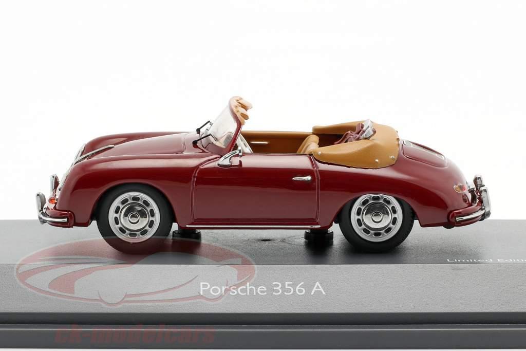 Porsche 356A Cabriolet golf dark red 1:43 Schuco