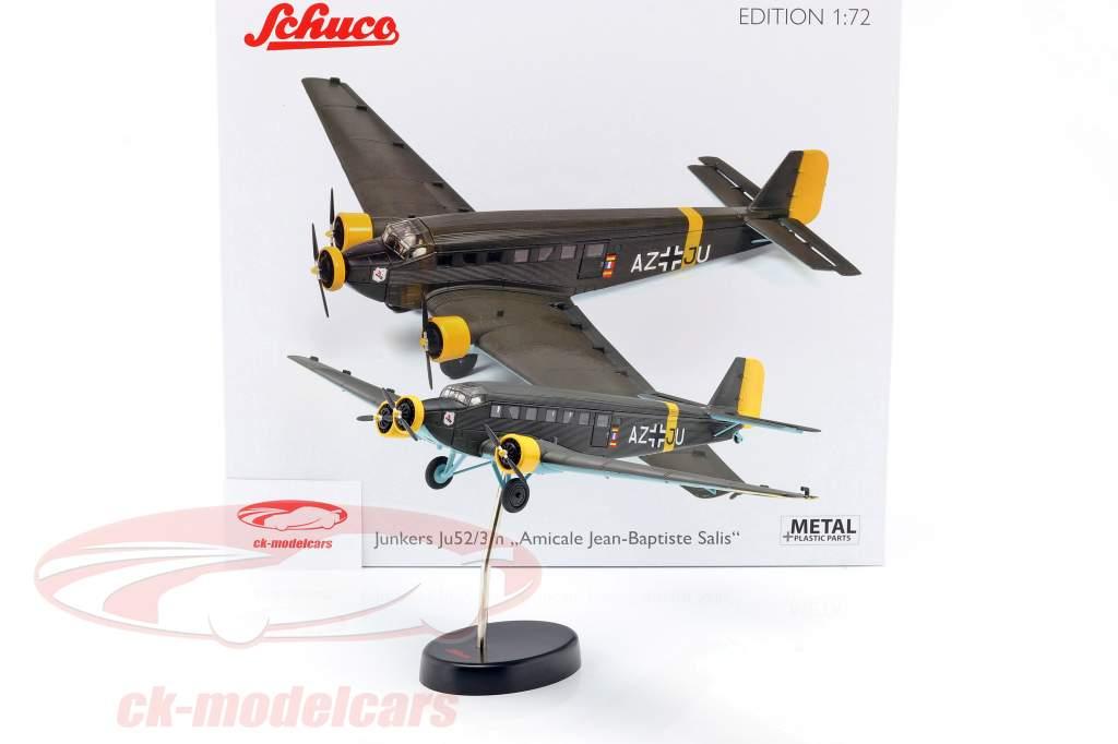 Junkers Ju52/3m Vliegtuig 1932-52 A. Jean-Baptiste Salis olijfgroen 1:72 Schuco