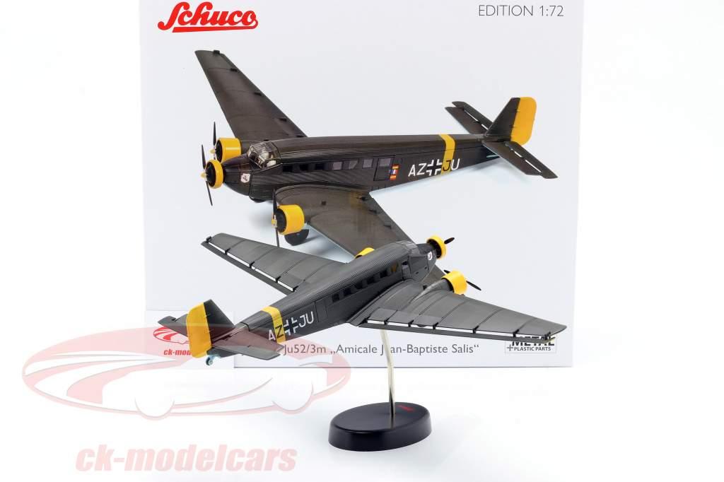 Junkers Ju52/3m aereo 1932-52 A. Jean-Baptiste Salis verde oliva 1:72 Schuco