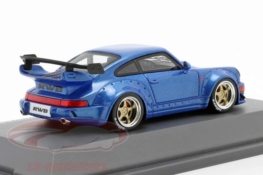 Porsche 911 (964) RWB Rauh-Welt blau metallic 1:43 Schuco