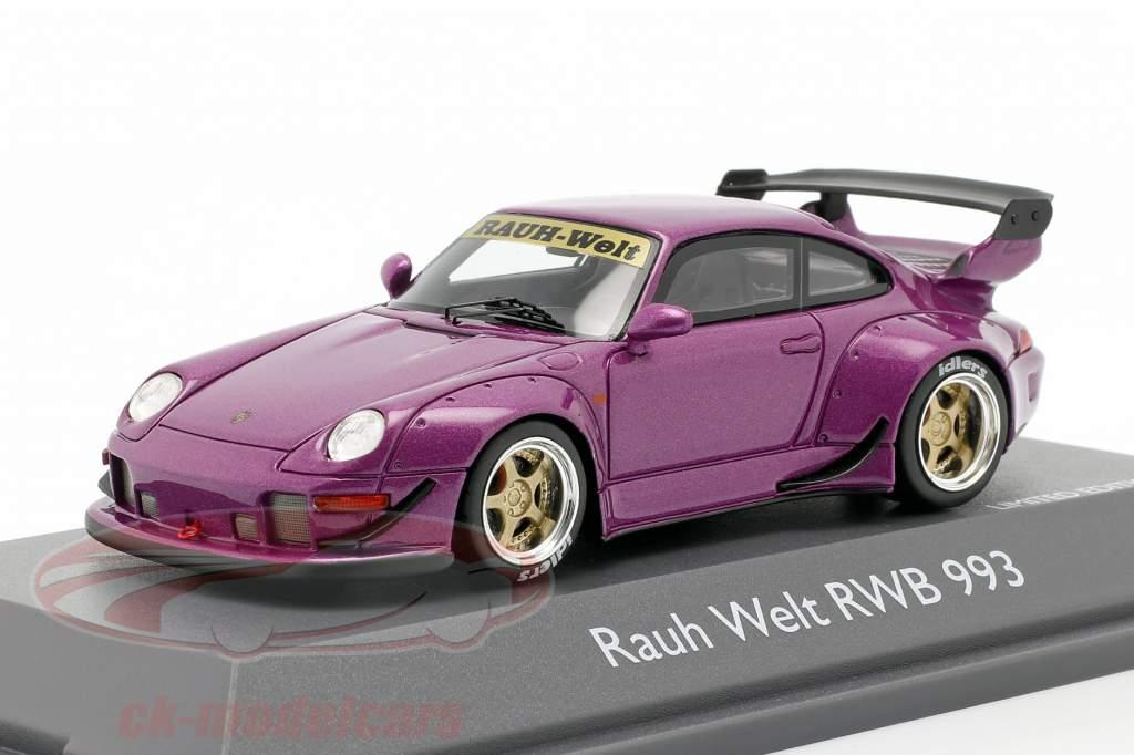 Porsche 911 (993) RWB Rauh-Welt violett metallic 1:43 Schuco