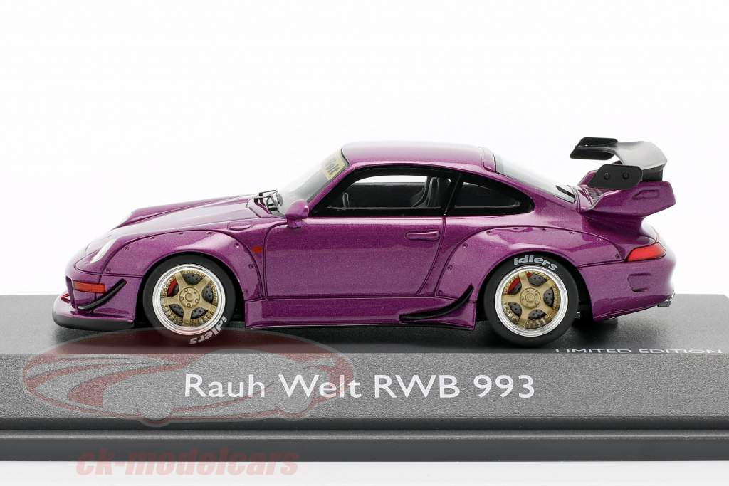 Porsche 911 (993) RWB Rauh-Welt paars metallic 1:43 Schuco