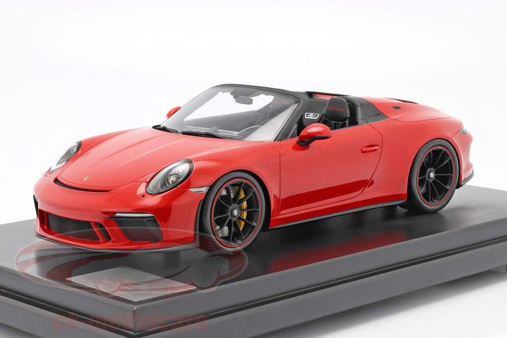 Porsche 911 (991 II) Speedster Byggeår 2019 vagter rød med udstillingsvindue 1:12 Spark