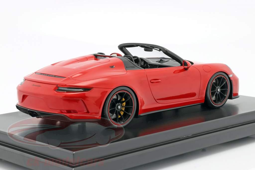 Porsche 911 (991 II) Speedster Année de construction 2019 gardes rouge avec Vitrine 1:12 Spark