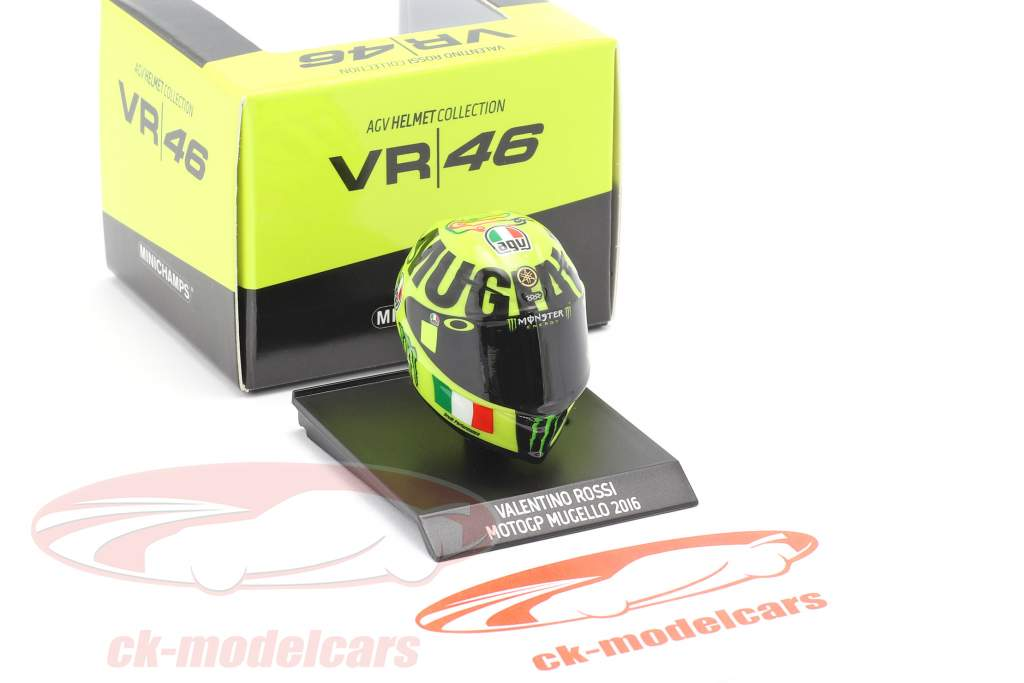 Valentino Rossi MotoGP Mugello 2016 AGV helmet 1:10 Minichamps
