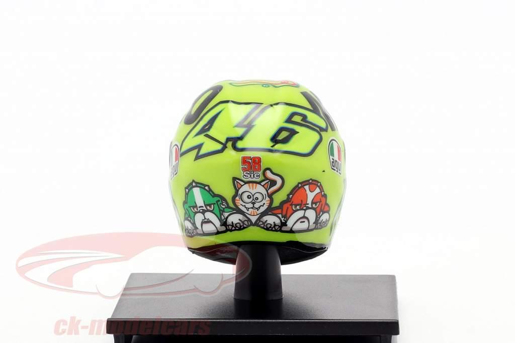 Valentino Rossi MotoGP Mugello 2016 AGV Casco 1:10 Minichamps