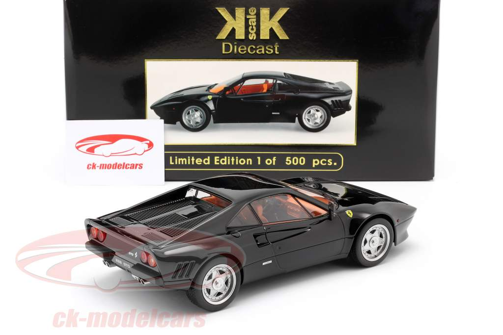 Ferrari 288 GTO Année de construction 1984 noir 1:18 KK-Scale