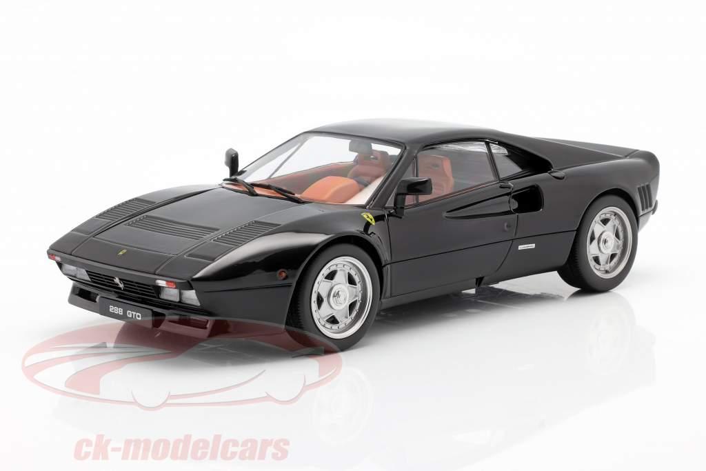 Ferrari 288 GTO Byggeår 1984 sort 1:18 KK-Scale