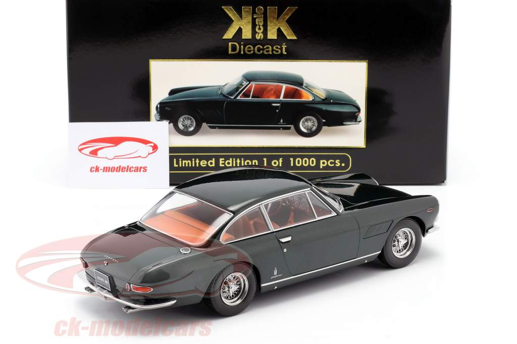 Kk Scale 1 18 Ferrari 330 Gt 2 2 Personal Car Enzo Ferrari 1964 Dark Green Metallic Kkdc180422 Model Car Kkdc180422