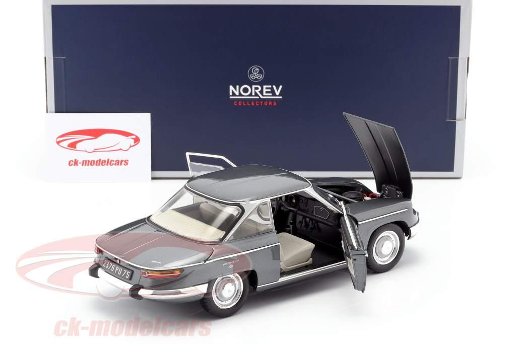 Panhard 24 CT Año de construcción 1964 gris plateado metálico 1:18 Norev