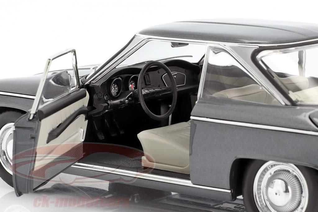 Panhard 24 CT Ano de construção 1964 cinza prateado metálico 1:18 Norev
