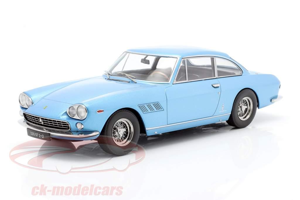 Ferrari 330 GT 2+2 Baujahr 1964 hellblau metallic 1:18 KK-Scale