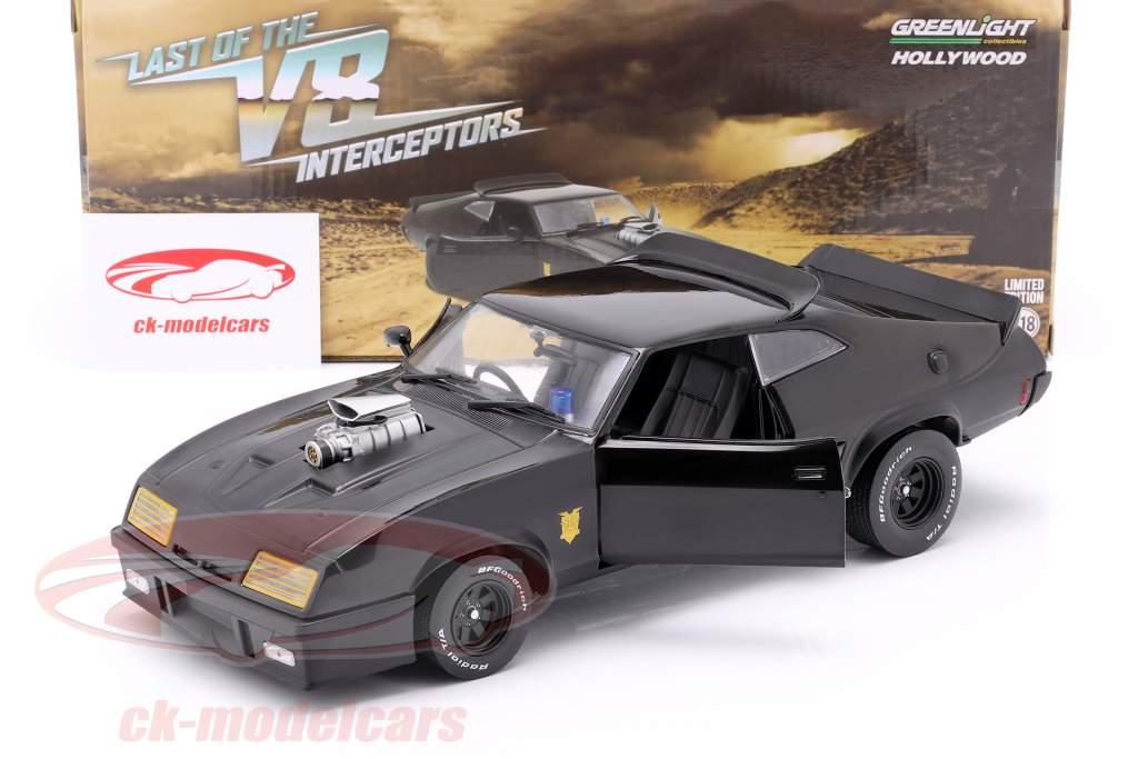 Ford Falcon XB ano de construção 1973 V8 Interceptor filme Mad Max (1979) preto 1:18 Greenlight