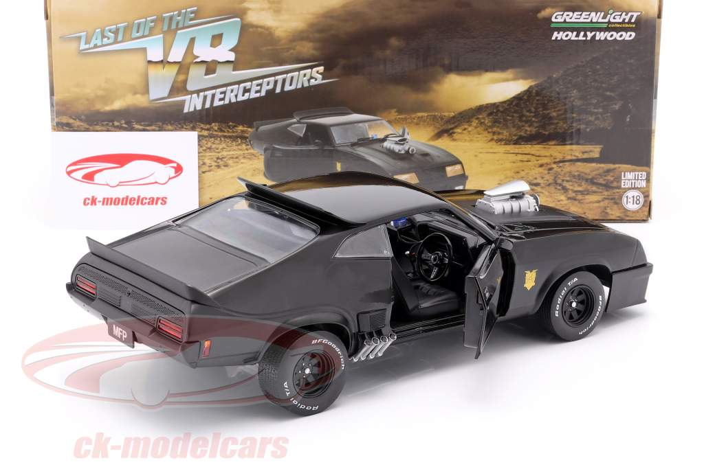 Ford Falcon XB year 1973 V8 Interceptor Movie Mad Max (1979) black 1:18 Greenlight