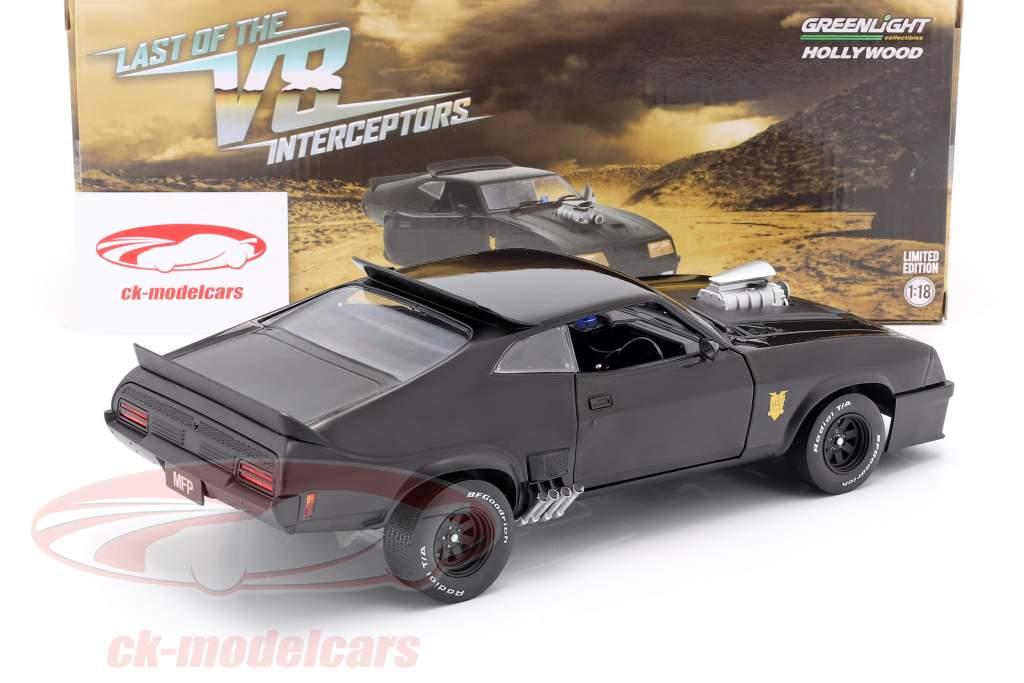 Ford Falcon XB Bouwjaar 1973 V8 Interceptor film Mad Max (1979) zwart 1:18 Greenlight