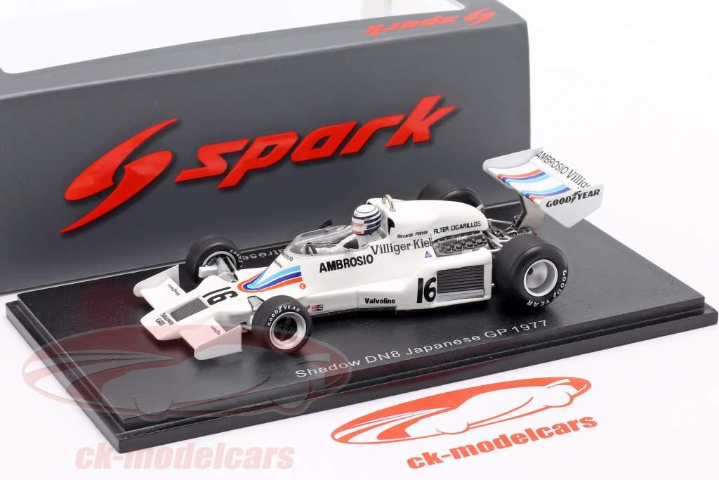 Riccardo Patrese Shadow DN8 #16 Japonês GP Formula 1 1977 1:43 Spark