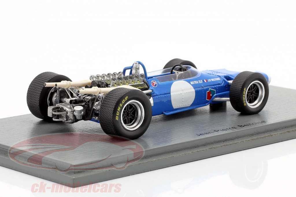 Jean-Pierre Beltoise Matra MS11 Presentation Car formel 1 1968 1:43 Spark