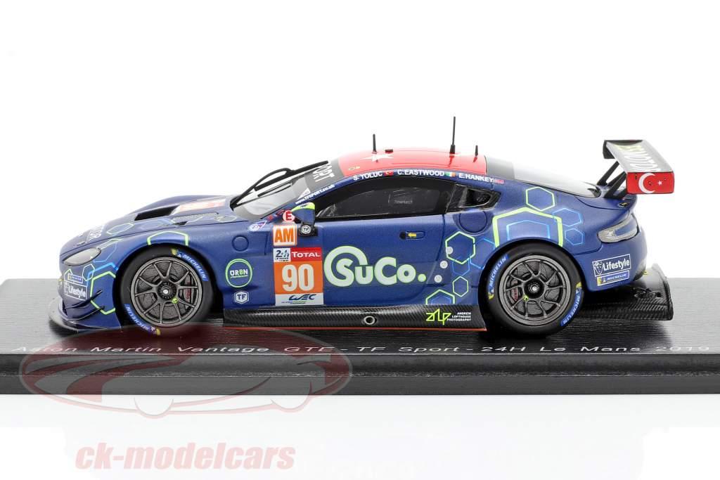 Aston Martin Vantage GTE #90 24h LeMans 2019 Eastwood, Yoluc, Hankey 1:43 Spark