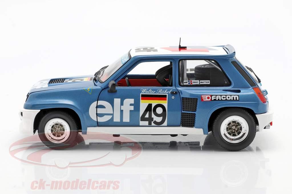 Renault 5 Turbo #49 europæisk kop 1981 Walter Röhrl 1:18 Solido