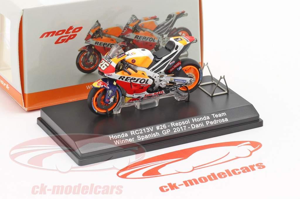 Dani Pedrosa Honda RC213V #26 Vencedor Jerez MotoGP 2017 1:43 Spark