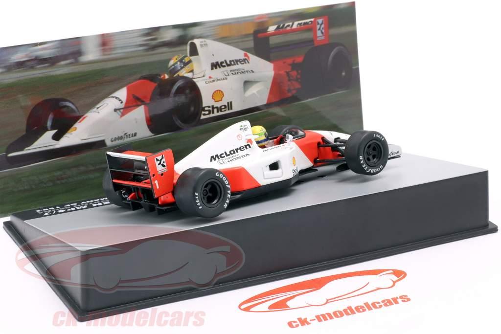 Ayrton Senna McLaren MP4/7 #1 Tyskland GP formel 1 1992 1:43 Altaya