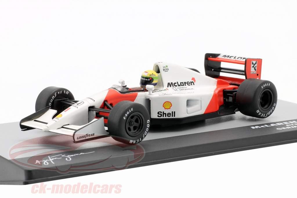 Ayrton Senna McLaren MP4/7 #1 Alemanha GP fórmula 1 1992 1:43 Altaya