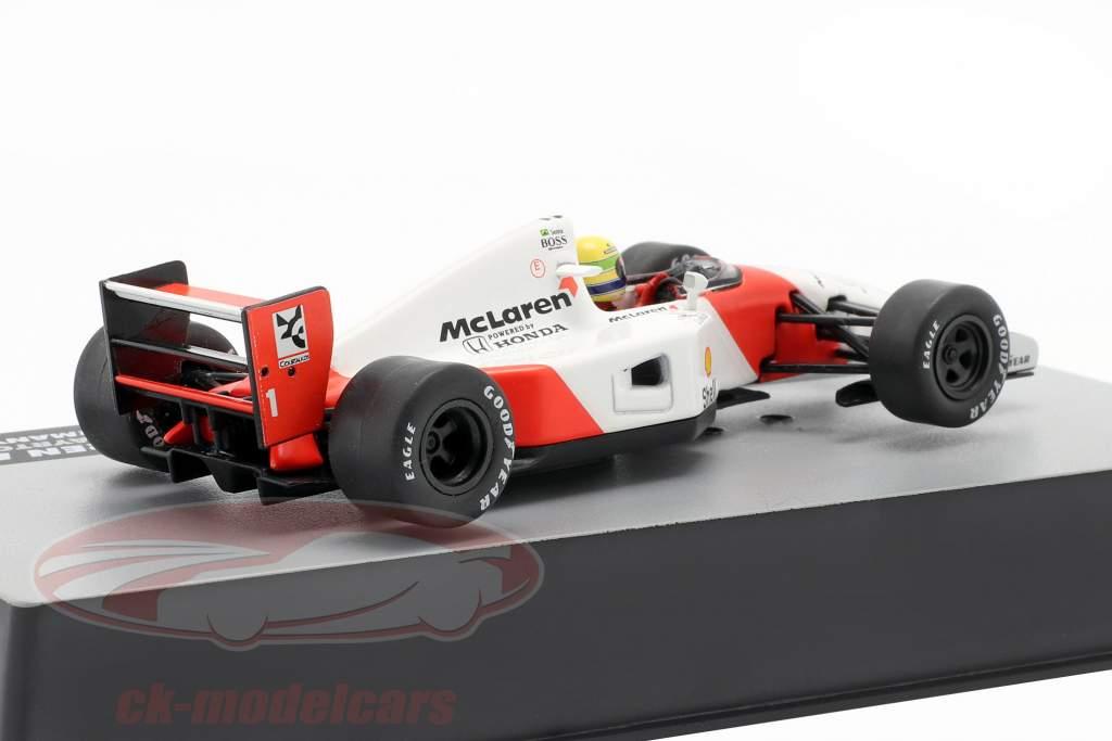 Ayrton Senna McLaren MP4/7 #1 Germania GP formula 1 1992 1:43 Altaya